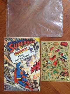 Vintage 1978 DC Comics Kalkitos Superman rubdown transfer  unused