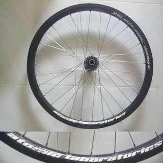 "26"" atomlab 20mm thru axle rim. Front."