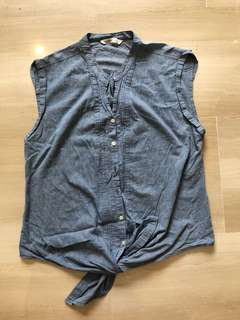 Old Navy Sleeveless Denim Top
