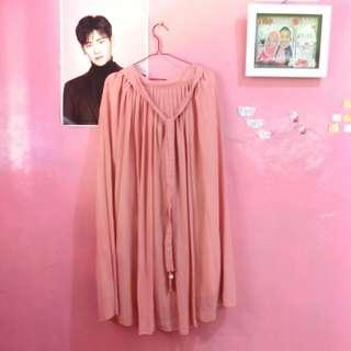 Princess layer skirt in peach/ rok gaun