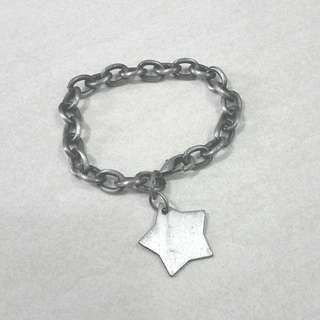 Silver Metal Star Chain Bracelet