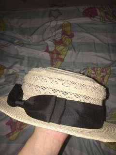 草帽 蝴蝶結 帽子