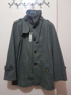 GSTAR WOOL TRENCH COAT