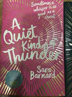 The Quite Kind Of Thunder by Sara Barnard