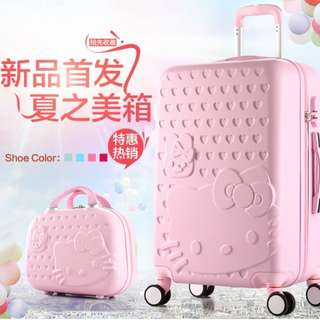 Hello Kitty Luggage with matching carry-case