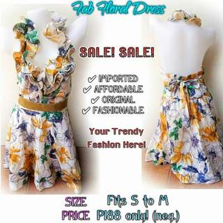 FAB FLORAL BACKLESS DRESS