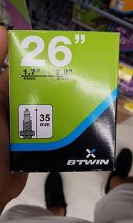 BTwin inner tube Presta Valve 26×1.7-2.2