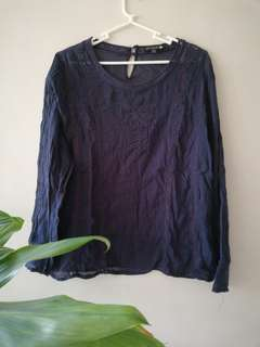 Cotton On Blue Sheer Top
