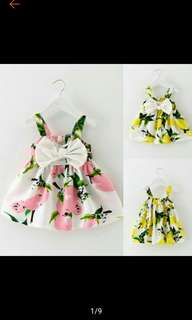 Toddler Infant Kids Baby Girls Summer Dress Princess Party Wedding Tutu Dress (Ships in 14days)