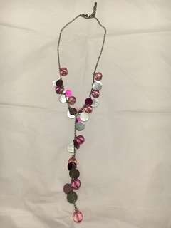 Pink & Silver Bead Necklace