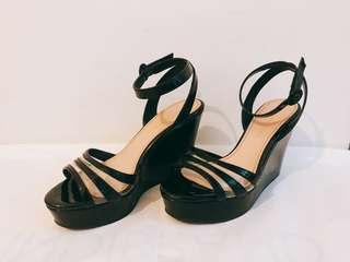 Black Wedges Heel