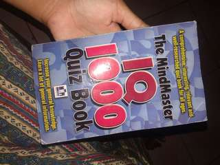 The mindmaster IQ 1000 quiz book