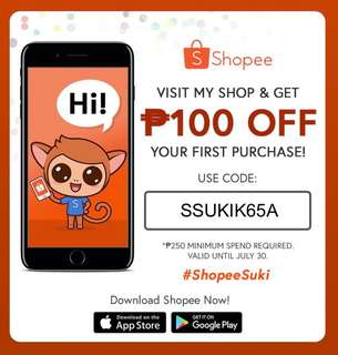 Php100 OFF! Shopee Voucher