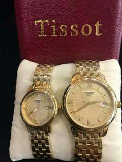 mixed with 20k gold Japan made couple watch