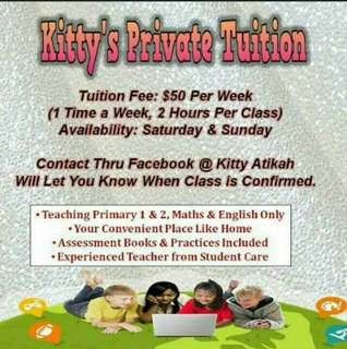 Tuition For P1 and P2