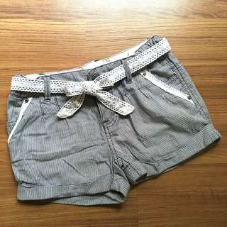FOX Black and White Lace Shorts