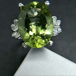 Mystic Olive Green Topaz Women's 925 Sterling Silver Ring