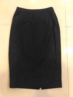 Black 3/4 Work Skirt