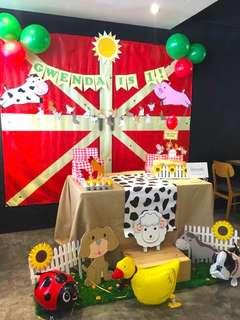 Farm Theme Birthday Deco