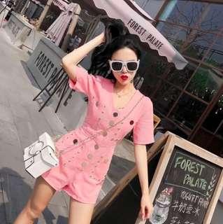 (Pink) B.S&S One-piece Romper