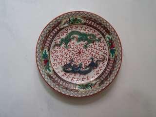 景德鎮雙飛龍陶瓷彩碟