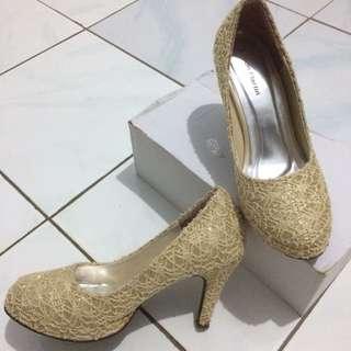 heels brokat FREE ONGKIR
