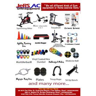 We sell home and gym equipment