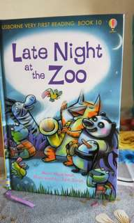 Usborne very first reading: Book 10-Late Night at the Zoo