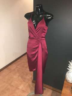 Elegant Wine Coloured Dress
