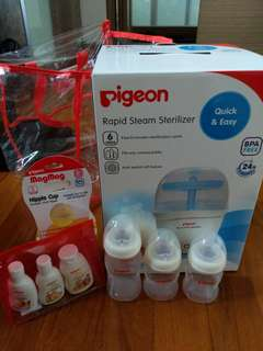 Clearance! Almost new Pigeon Rapid Steam Sterilizer Set