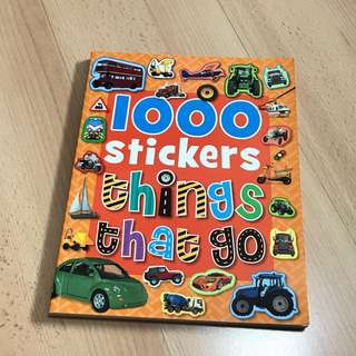 1000 stickers things that go (Children's Activity)