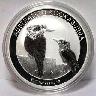 2017 Australia Kookaburra .999 Silver BU Coin 1 oz