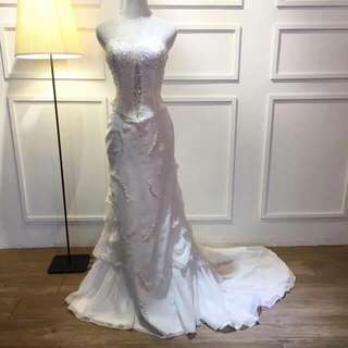 Wedding Gown-White with tail