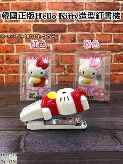 🚚 韓國百貨❤️新品上架❤️ Hello Kitty造型訂書機,超可愛的外型😍現特$175 現貨有2色可以選唷!