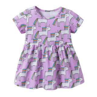 Preorder purple unicorn dress