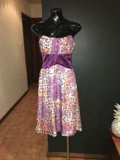 Floral Evening Midi Dress