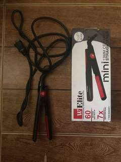 Mini ceramic straightener/curler