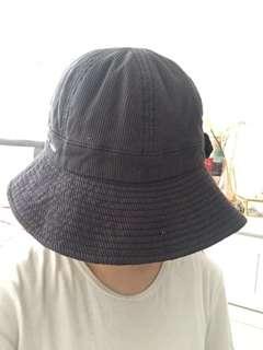 Dark grey corduroy bucket hat
