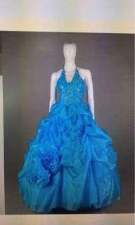 Wedding gown-blue
