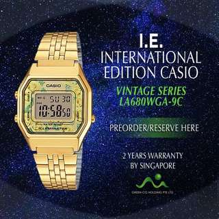 CASIO INTERNATIONAL EDITION VINTAGE SERIES FLOWER LA680WGA-4C/ LA680WGA-9C