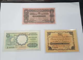 Repro notes Straits Settlement and Malaya British Borneo