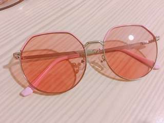 🚚 粉紅框 太陽眼鏡