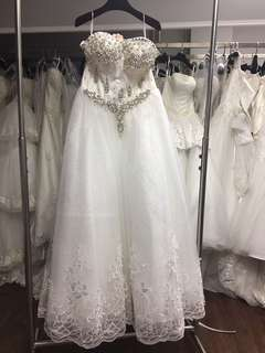 婚紗 晚裝 evening gown wedding gown sample sale