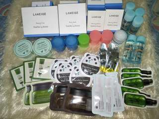 Korean Skin Care Products Full Size and Samplers