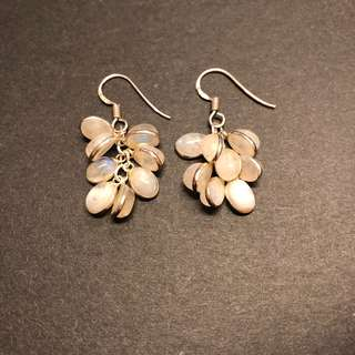 Sterling silver beads earrings