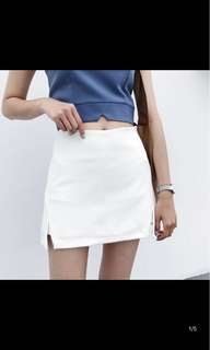 White skirt pants