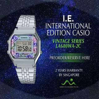 CASIO INTERNATIONAL EDITION VINTAGE SERIES LADIES LA680WA-2C/ LA680WA-4C