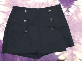 Stradivarius - Short Pants/Skirt (Navy blue)