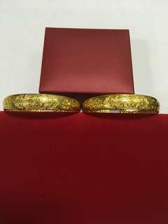 仿真 金器 金扼 褂 中式 婚禮