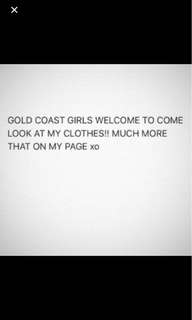 Gold Coast welcome to try on size 6 & 8 mostly new and used